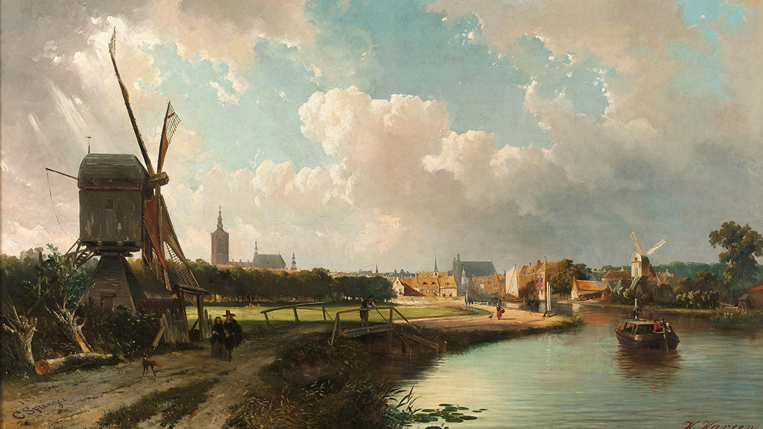View of The Hague from the Delftse Vaart in the Seventeenth Century